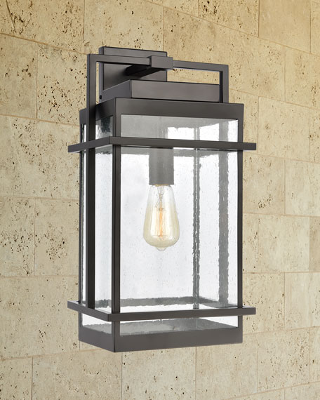 Breckenridge 1-Light Outdoor Sconce in Matte Black with