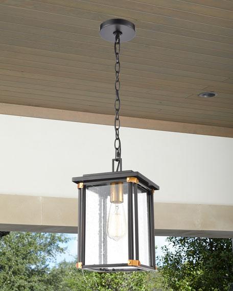 Vincentown 1-Light Outdoor Lighting Pendant in Matte Black