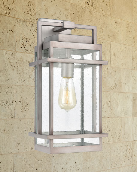 Breckenridge 1-Light Outdoor Sconce in Weathered Zinc with