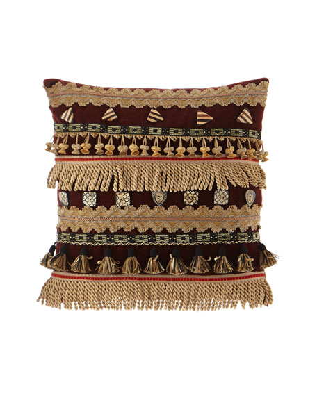 Cucina Velvet Pillow with Fancy Fringe