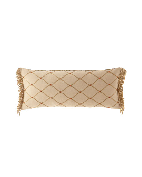 Cucina Reversible Oblong Pillow with Fringe
