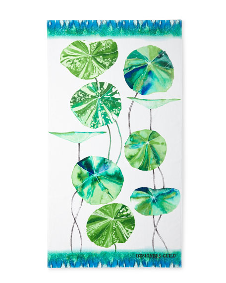 Designers Guild Brahmi Leaf Beach Towel