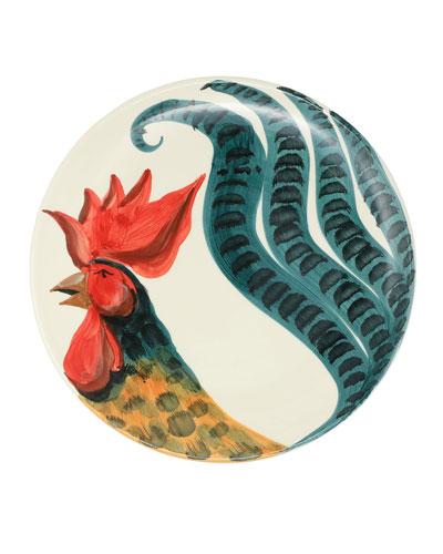 Wildlife Rooster Round Platter