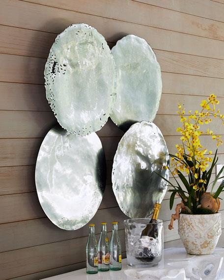 Galvanized Wall Discs, Set of 4