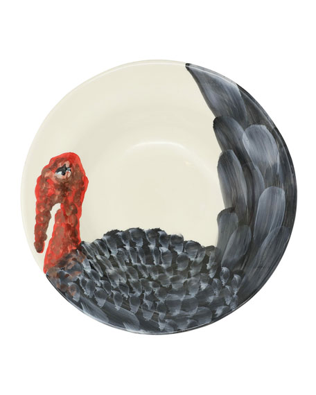 Wildlife Turkey Medium Serving Bowl