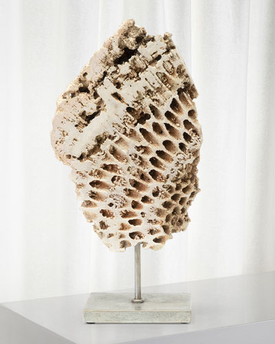 Keller Large Fossilized Coral Decor