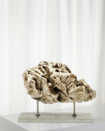 Keller Low Fossilized Coral Decor
