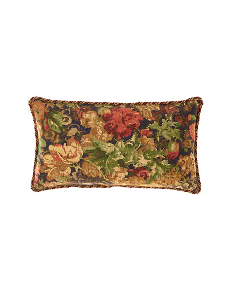 Rose de Rescht Floral Oblong Pillow