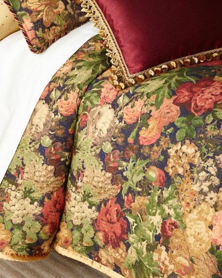 Rose de Rescht Floral Queen Duvet