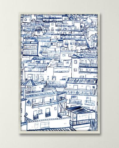 Mijas Giclee in Shadow Box by Inspire Studio