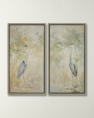 Wading Heron Giclee Set by Oxley