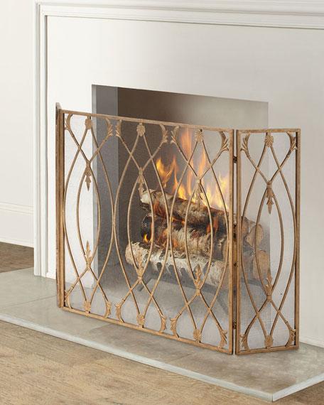 Gate Design 3-Panel Fireplace Screen