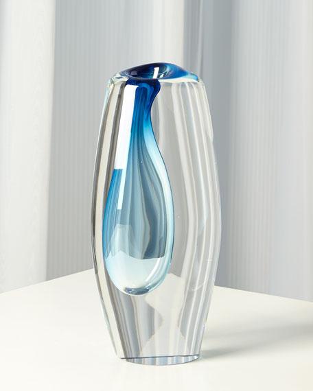 Off Set Vase - Light Blue - Large