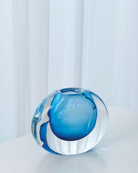 Global Views Off Set Round Vase - Light