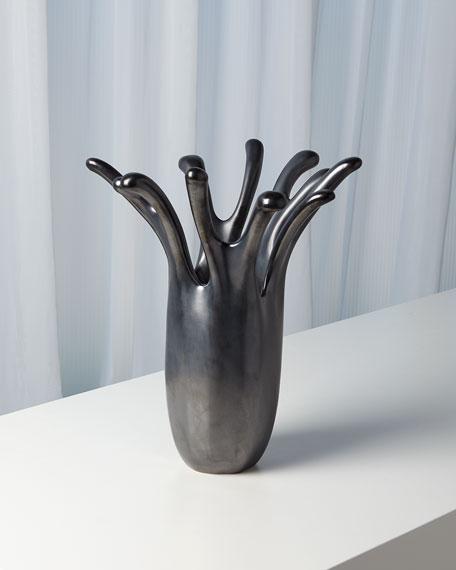 Global Views Splash Vase - Graphite - Small