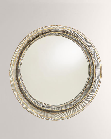 Wite Ribbon Mirror  -  Natural I