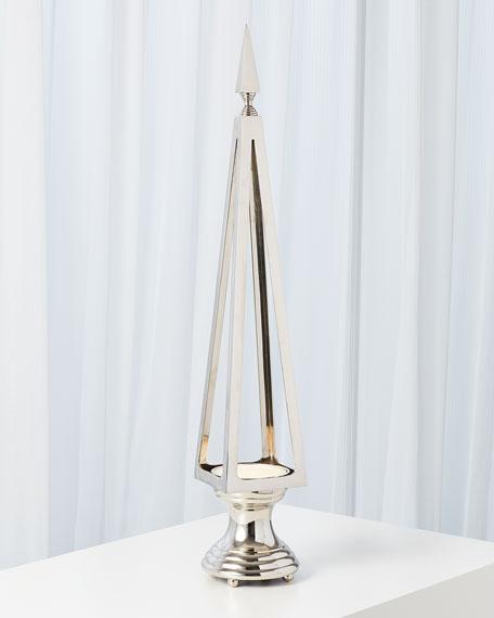 Open Obelisk Lamp - Nickel