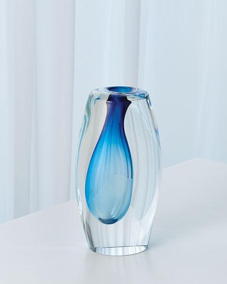 Off Set Vase - Light Blue - Small