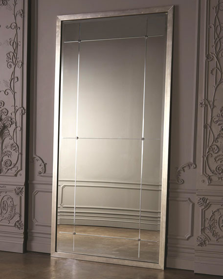 Beaumont Floor Mirror - Silver