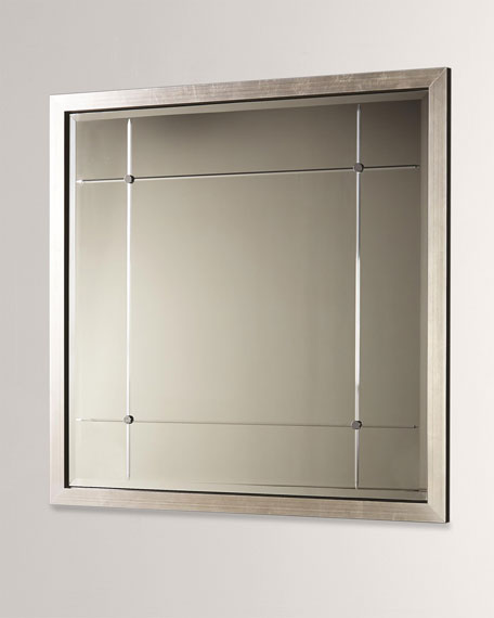 Beaumont Square Mirror - Silver