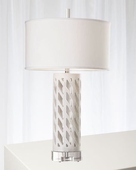 Diamond Fret Lamp - White
