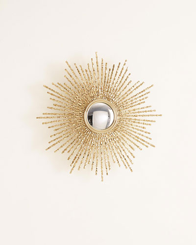 Square Beaded Burst Mirror
