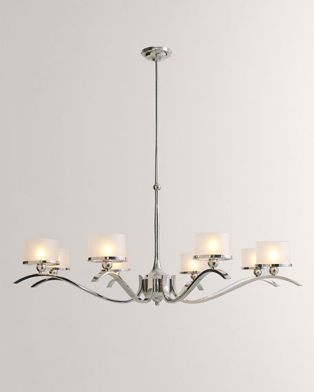French Curve Chandelier - Nickel