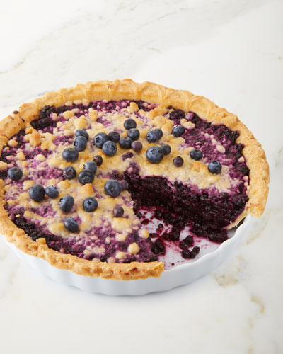 Lower Sugar Blueberry Pie