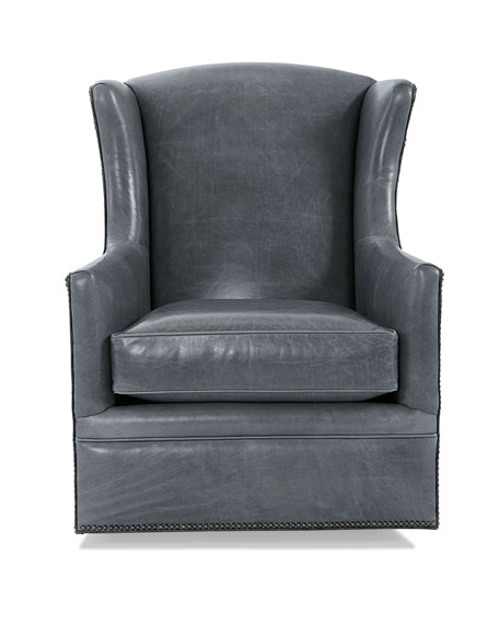 Eden Lake Leather Swivel Chair