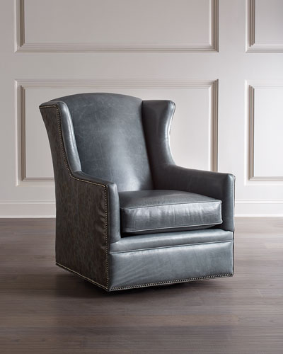 Eden Lake Leather Swivel Chair