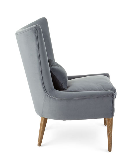 Travis Velvet Wing Chair