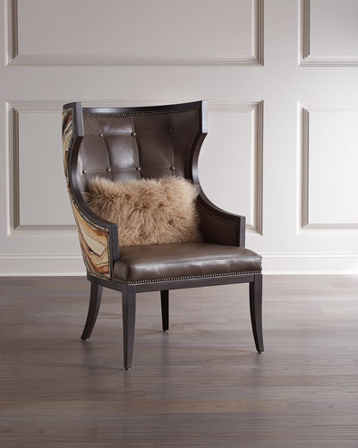 Worthington Leather Wing Chair
