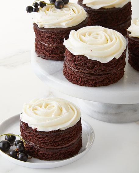 8 Mini Rose Chocolate Cakes