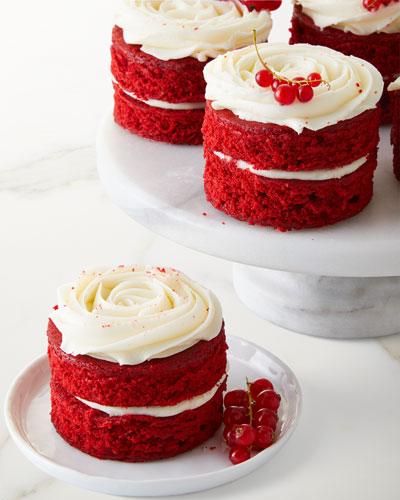 8 Red Velvet Mini Rose Cakes