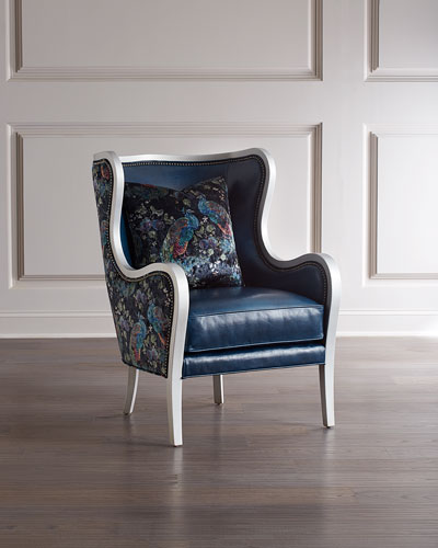 Bishop Leather Wing Chair