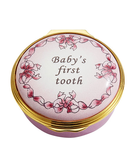 Pink Baby's First Tooth Enamel Box