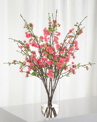 Apple Blossom Fuchsia in Glass Cylinder