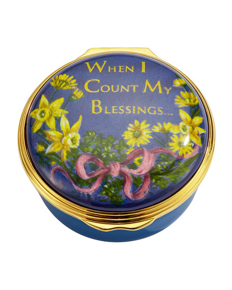 Halcyon Days When I Count My Blessings Enamel