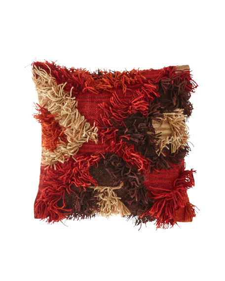"Multi Fringe Pillow, 22""Sq."