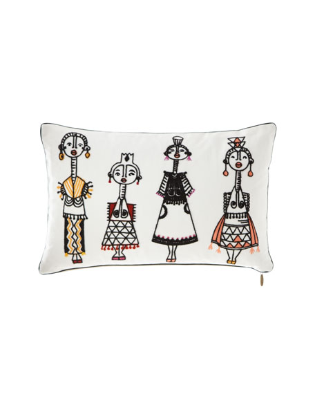 """People Pillow, 13"""" x 21"""""""