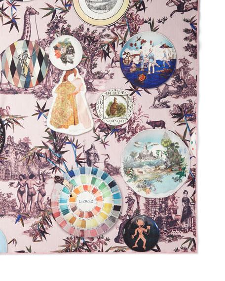 Christian Lacroix Folie Rose Pink Tablecloth, 70