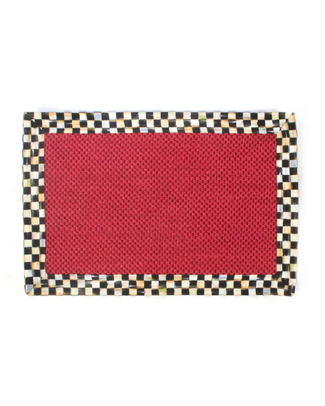 MacKenzie-Childs Courtly Check Red Sisal Rug, 2' x