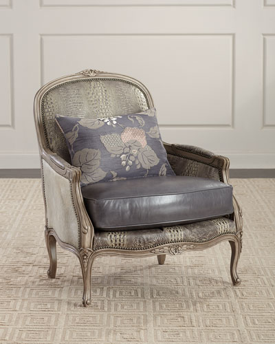 Lucas Leather Bergere Chair