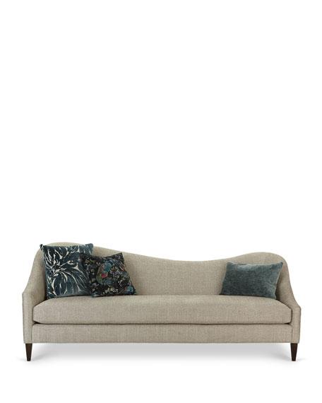 "Raquel Left Facing Curved Sofa, 92"""
