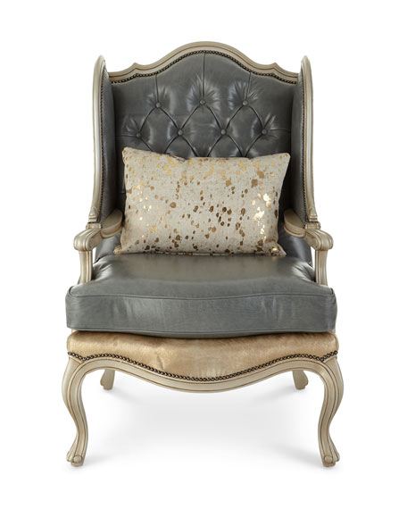 Ambrose Tufted Leather Chair