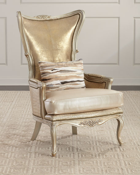 Kentmere Leather Wing Chair