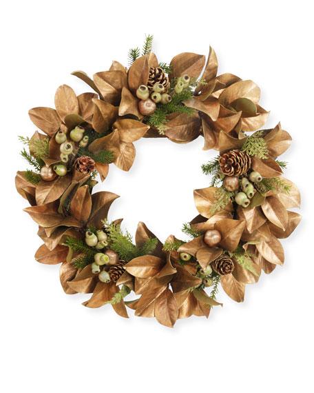 """30"""" Magnolia Leaf Wreath"""