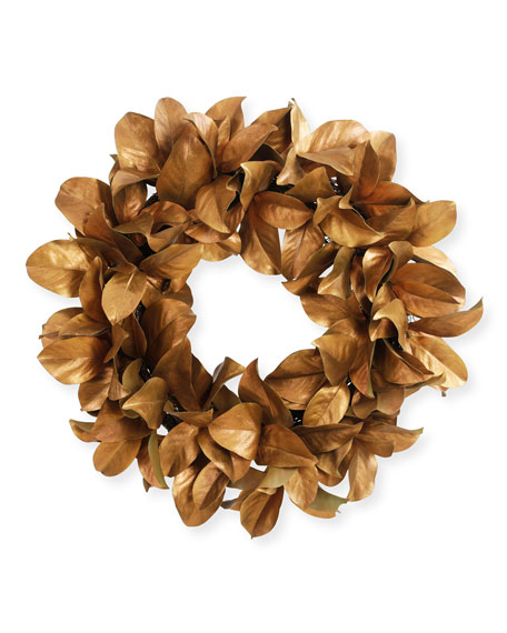 "30"" Magnolia Gold Leaf Wreath"