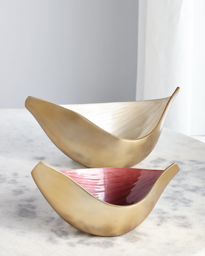 Elegant Swoosh Bowls  Set of 2