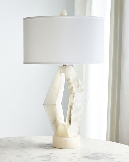 John-Richard Collection Abstract Alabaster Table Lamp